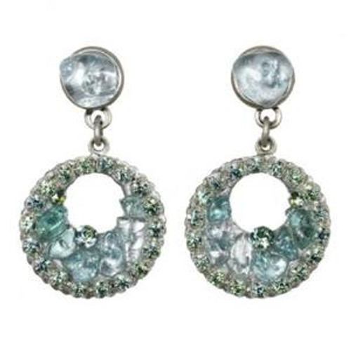 Michal Golan Spring 2010 Aqua Marine Crystal Earrings