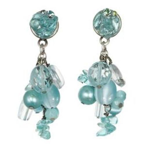 Sterling SilveMichal Golan Aqua Marine Crystal Earrings