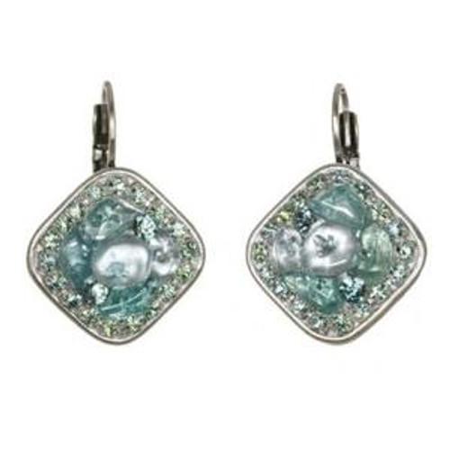 Michal Golan Aqua Marine Crystal Earrings s7204