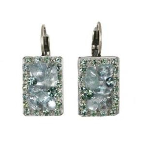 Michal Golan Aqua Marine Crystal Earrings s7203