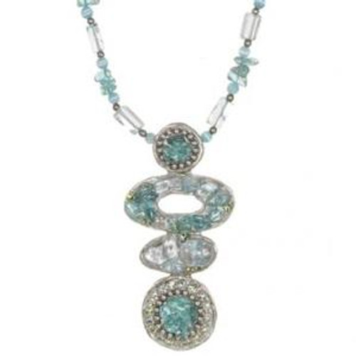 Michal Golan Aqua Marine Crystal Necklace N2252