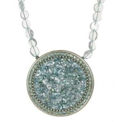 michal golan aqua marine crystal pendant n2247