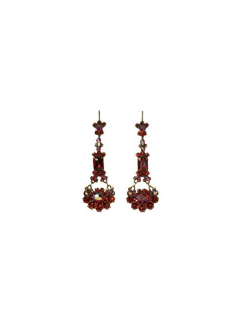 *Special Order* Sorrelli Cranberry Swarovski Crystal Earrings EBT10AGCB