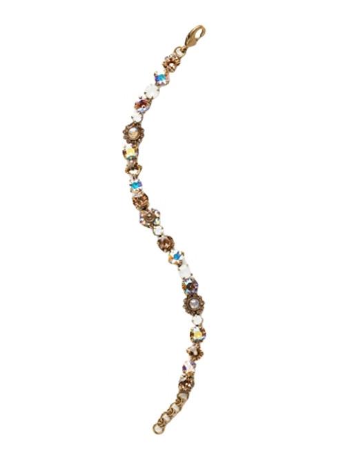 Sorrelli AMARETTO- Classic Floral Tennis Bracelet~ BBE2AGAMA