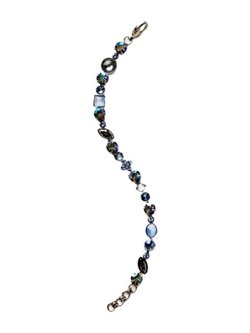 Sorrelli Ice Blue- Crystal and Cabochon Tennis Bracelet~ BAQ3ASIB