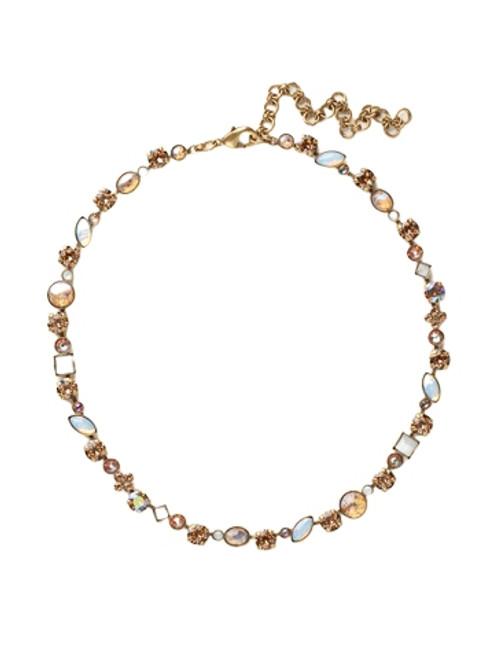 Sorrelli AMARETTO- Classic Tee-Shirt Tennis Necklace~ NAQ3AGAMA
