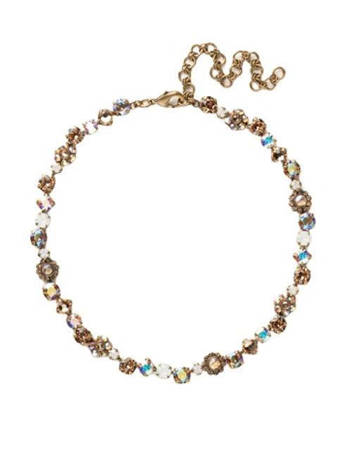 Sorrelli AMARETTO- Classic Floral Tennis Bracelet~ NBE2AGAMA
