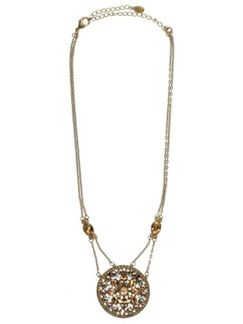 Sorrelli AMARETTO- Floral Mosaic Pendant Necklace~ NCC49AGAMA