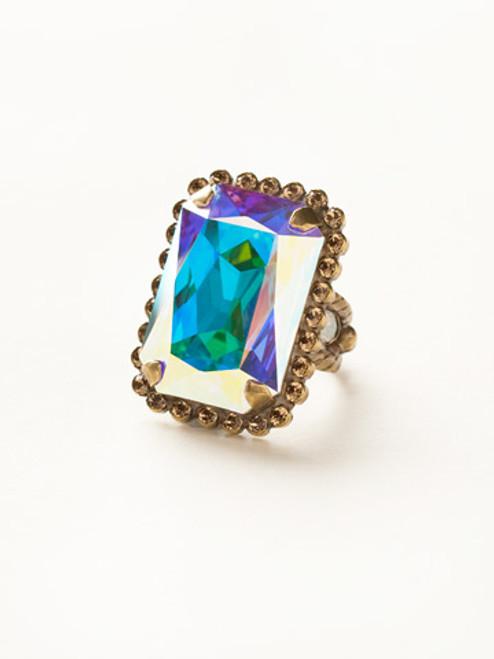 Sorrelli Amaretto- Luxurious Emerald-Cut Cocktail Ring~ RBT69AGAMA