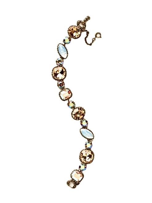 Sorrelli AMARETTO- Cushion Cut Crystal Bracelet~ BBX10AGAMA