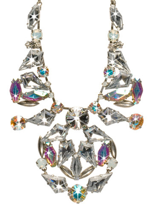 Sorrelli White Bridal Crystal Necklace NCN11ASWBR