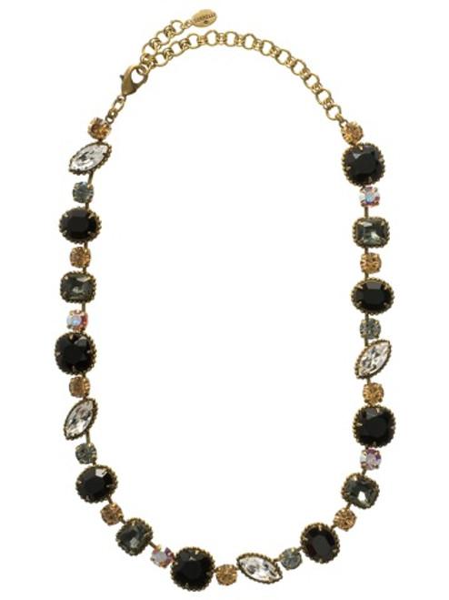 Sorrelli Evening Moon Crystal Necklace NBX10AGEM