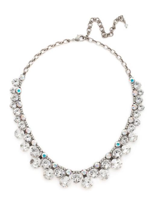 Sorrelli White Bridal Crystal Necklace NCT14ASWBR