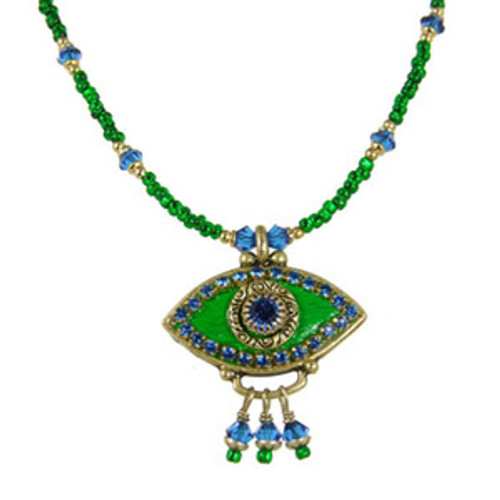 Michal Golan Green Eye Necklace
