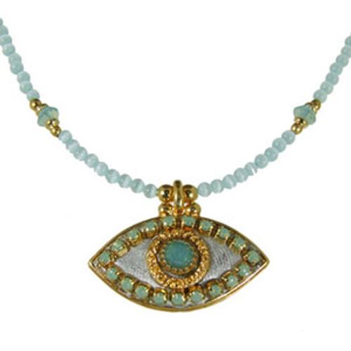 Michal Golan Sea green Eye Necklace