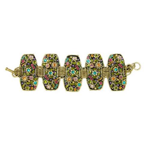 Michal Golan Midnight Blossom Bracelet Antique Gold