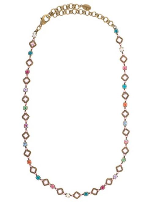 Sorrelli Lollipop Crystal Necklace NCA10AGLP