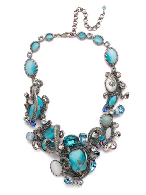 Sorrelli Aquatic Swarovski Crystal Necklace~NSP3ASAQU