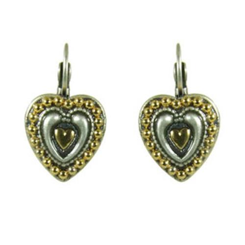 Michal Golan Silverado Heart Earrings