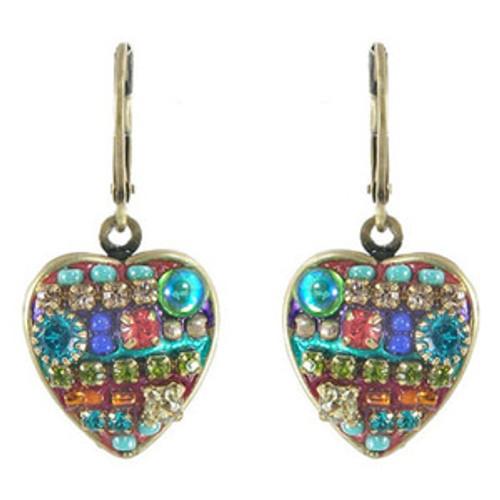 Michal Golan Heart Earrings