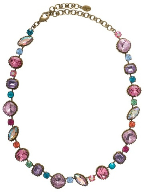Sorrelli Lollipop Crystal Necklace NBX10AGLP