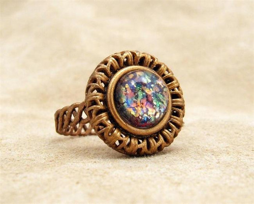 Multi Opal Stone Ring