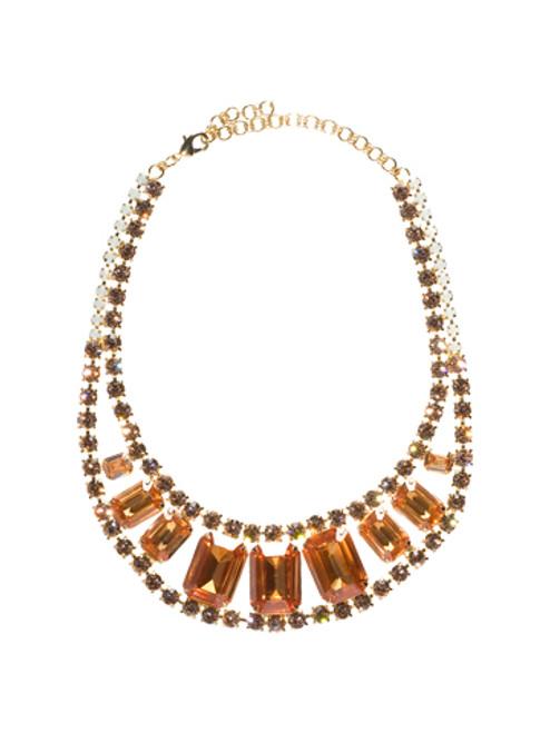 Sorrelli Peachy Keen Swarovski Crystal Necklace- NBZ15BGPEK