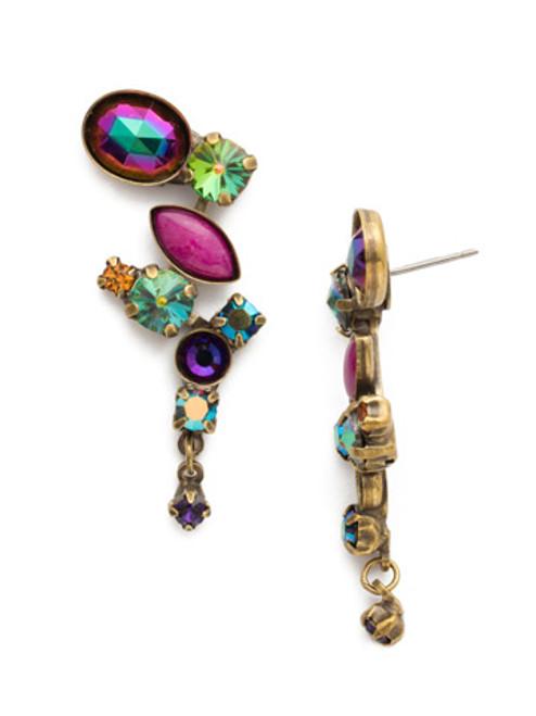 Sorrelli Volcano Crystal and Opaque Stone Earrings EAZ11AGVO