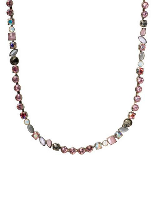 Sorrelli Misty Pink Crystal Necklace ~NBJ39ASMP