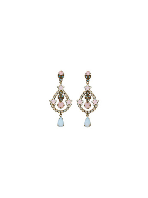 SORRELLI- PRETTY IN PINK DEBUTANTE CRYSTAL EARRINGS- EBS68AGPNP