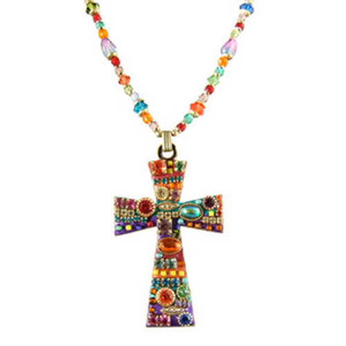 Michal Golan Multi Bright Cross Pendant