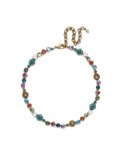 Sorrelli Happy Birthday Crystal Necklace NBE2AGHB