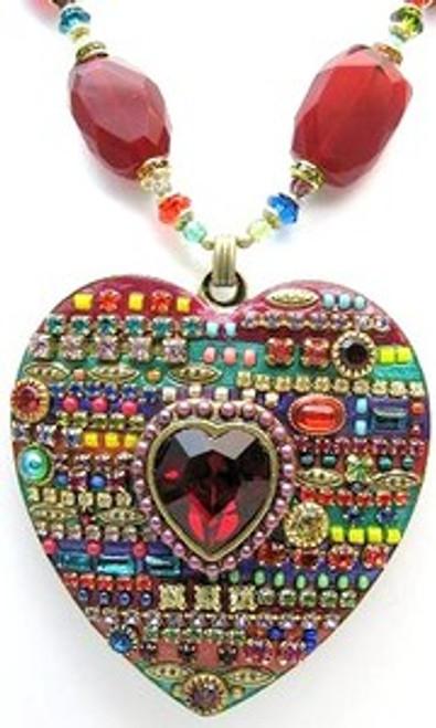 Michal Golan Multi Bright Heart Pendant