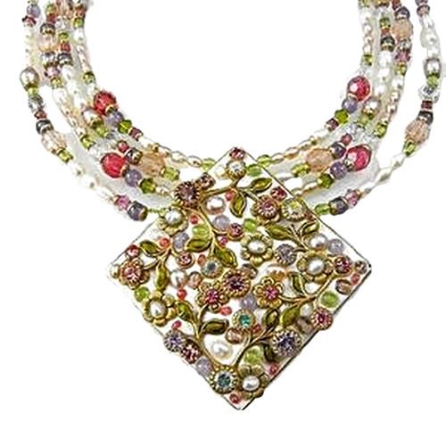 Michal Golan Pearl Blossom Pendant-N1541