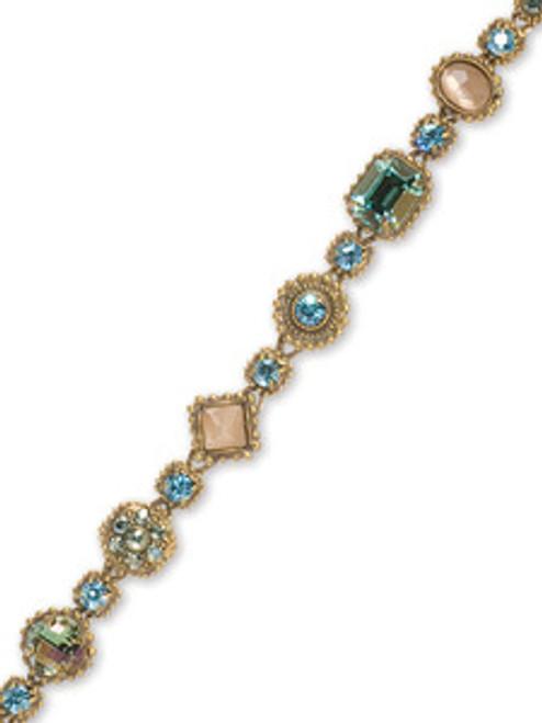 Sorrelli AQUA BUBBLES- Vintage Royalty Crystal Bracelet~ BBW18AGAQB