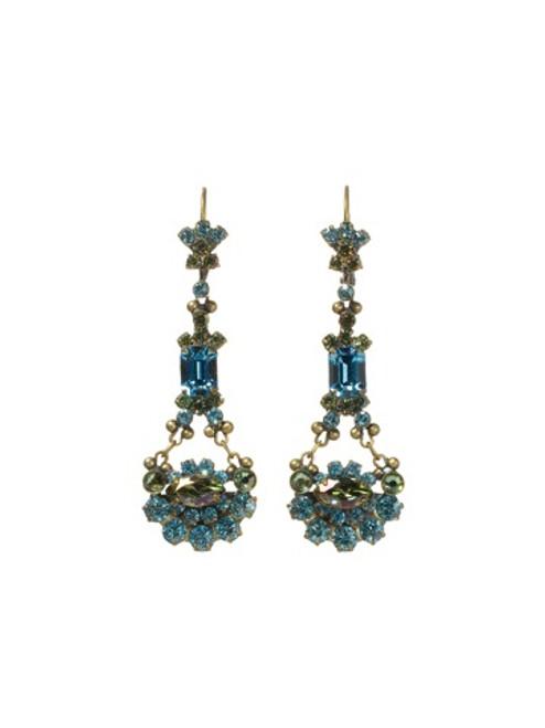 Sorrelli AQUA BUBBLES- Crystal French Wire Earrings~ EBT10AGAQB