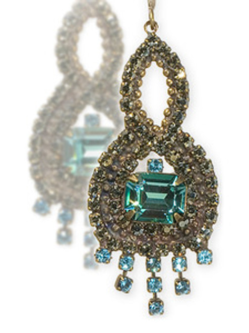 Sorrelli Aqua Bubbles Crystal Earrings EBW42AGAQB