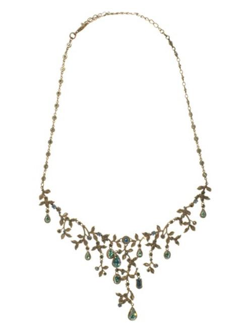Sorrelli AQUA BUBBLES- Unique Crystal Bib Necklace~ NBW13AGAQB
