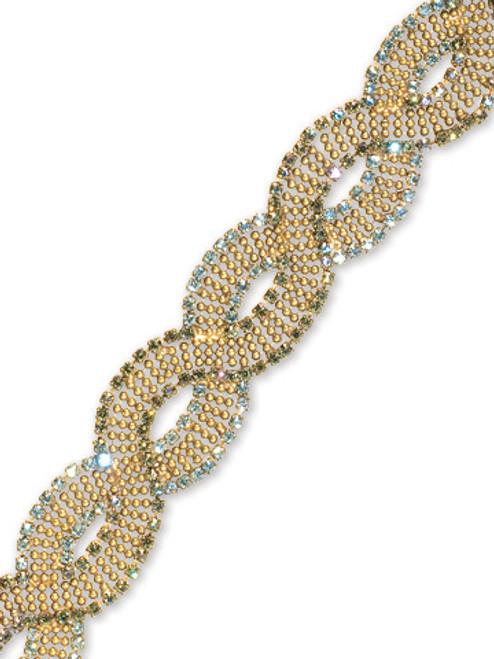 Sorrelli AQUA BUBBLES- Antique Inspired Crystal Bracelet~ BBW2AGAQB