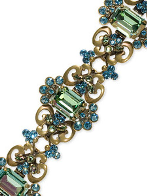 Sorrelli Aqua Bubbles swarovski Crystal Bracelet