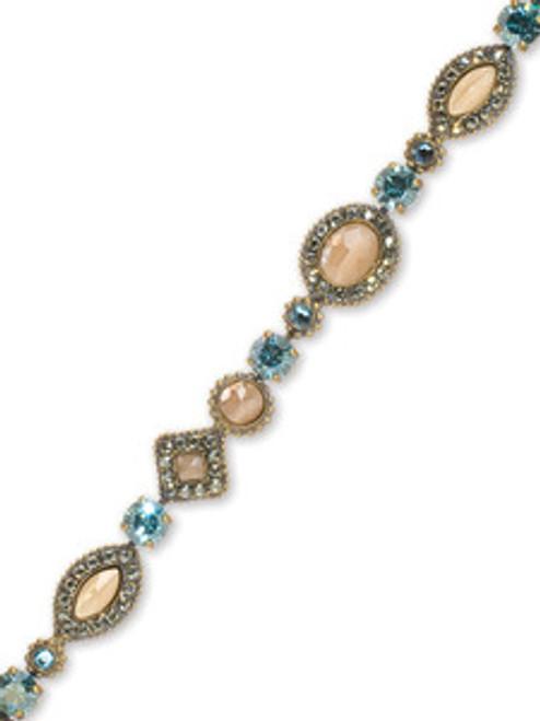 Sorrelli AQUA BUBBLES- Crystal Bracelet~ BBW3AGAQB