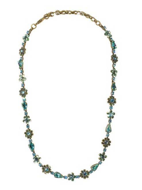Sorrelli Aqua Bubbles Crystal Necklace NBP90AGAQB