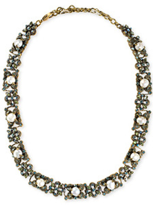 Sorrelli Aqua Bubbles Crystal Necklace NBW20AGAQB