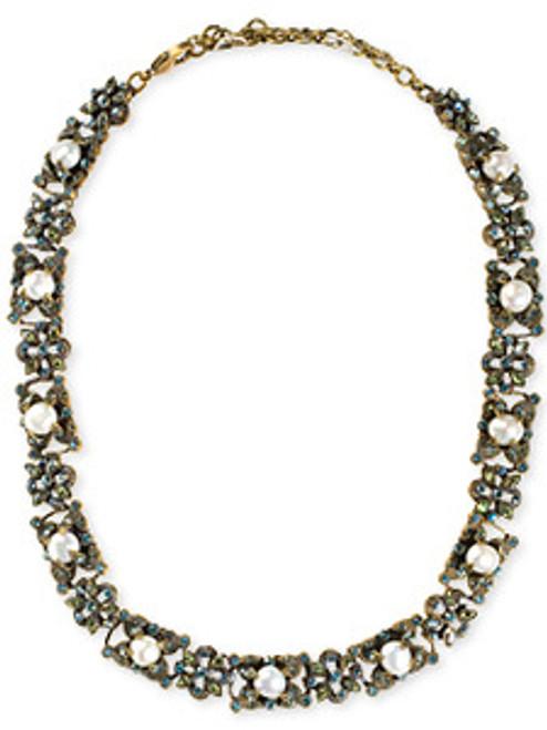 Sorrelli AQUA BUBBLES- Floral Fantasy Crystal Line Necklace ~ NBW20AGAQB