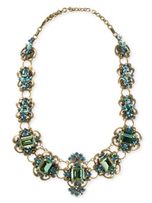 Sorrelli Aqua Bubbles Swarovski Crystal Necklace