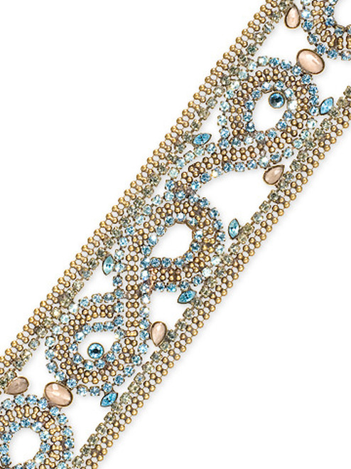 Sorrelli AQUA BUBBLES- Intricate Crystal Bracelet~ BBW11AGAQB