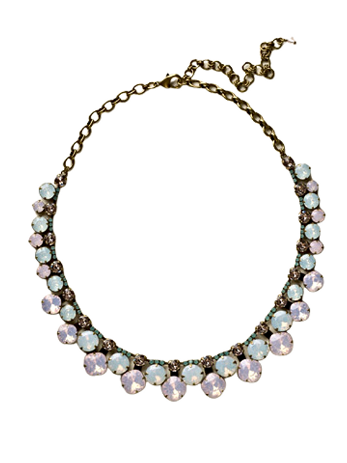 ROSE WATER CUSHION CUT CRYSTAL STATEMENT NECKLACE BY SORRELLI -NCT14AGROW