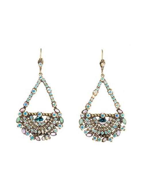 Sorrelli Smitten Crystal Teardrop Earrings EBU8AGSMI