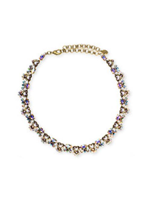 Sorrelli Smitten Crystal Vintage Style Classic Necklace NBU27AGSMI