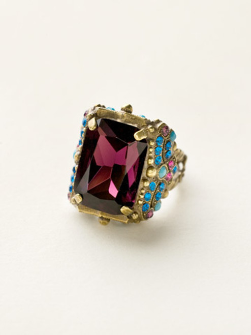 Sorrelli Southwest Brights -Snowflake Cocktail Ring~ RCK2AGSWB